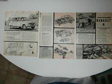page de pub le meccano RENAULT 6 moteur dauphine 845 cm3  1968