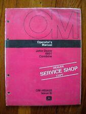 John Deere 6601 Combine operators Manual NEW OLD STOCK