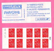 FRANCE CARNET LAMOUCHE - YT 3744-C1 - Daté 17.11.04 - Couverture PARIS 2012