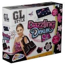 Make Your Own DAZZLING DENIM Handbag Purse & More Girls Fashion Design Kit 6641