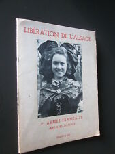 LIBERATION DE L'ALSACE 1RE ARMEE FRANCAISE 12 PLANCHES PHOTO