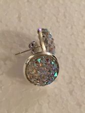 cabochon silver plate earrings