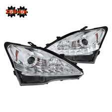 06-09 Lexus IS250/350 LED DRL Switchback Turn Signal Projector Headlights Chrome