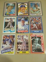 Robin Yount 9 Card Lot Milwaukee Brewers Topps All Star Donruss Fleer HOF MLB AS