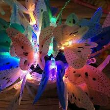 Solar Powered 12/20 LED Butterfly Fairy String Lights Outdoor Lamp Bulb C1S7