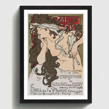 Alphonse Mucha Antique (Pre-1900) Art Prints
