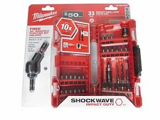 New Milwaukee 48-32-4426 Shockwave Impact Drill and Drive Set, 33 Piece