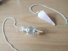 Wholesale joblot crystals clear quartz rose quartz crystal pendulums