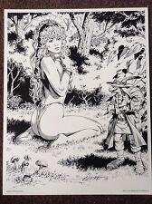 Pinup Fairy Elmore Original Print 1994 Magic Fantasy Naked Elf Woods Erotic Art