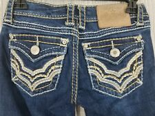 L.A. Idol USA Women's Embroidered Heavy Stitching Skinny Jeans Size 0