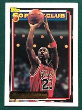 1992-93 Topps GOLD PARALLEL Michael Jordan #205 50 Point Club Card! GOAT! HOF!