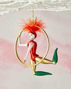 NWT De Carlini Circus Girl Acrobat Christmas Ornament