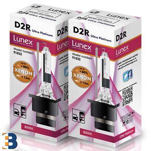 2 x D2R NEU Stück LUNEX HID XENON BRENNER P32d-3 Original 8000K Ultra Platinum