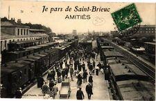 CPA  Je pars de Saint-Brieuc - Amitiés    (243691)