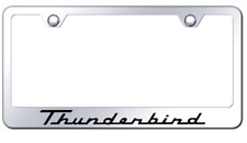 Ford Thunderbird Chrome Plated Metal License Plate Frame Tag Holder