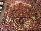 Vegtable Dye Genuine Hand Knotted Vintage Heriz Area Rug Carpet 11'10x14'11,3161