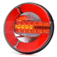 LED REAR ROUND HAMBURGER LAMP LIGHT + PROGRESSIVE DYNAMIC SEQUENTIAL INDICATOR
