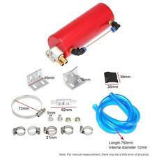 Billet Aluminium Racing Engine Oil Catch Tank Can Reservoir Red Universal