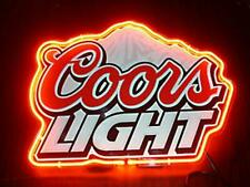 """Coors Light Beer Neon Sign Display Store Beer Bar Pub Cave Light Sign17""""X14"""""""