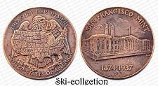 Medal SAN FRANCISCO MINT 1874-1937. USA, Treasury Department. Bronze. SUP