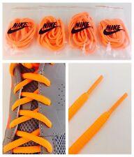 "Set Of 4 Pairs New & Genuine Nike Oval 40"" Shoe Laces Neon Safety Orange"