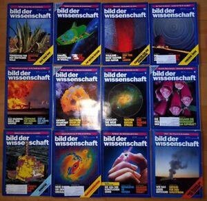 12x Bild der Wissenschaft 1991 1-12 Jahrgang Sammlung Zeitschrift Science Hefte