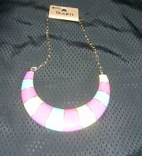 BNWT Multi Coloured Metal Statement Necklace