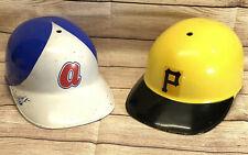 Lot of 2 Vintage Sports Products Corp. Plastic Baseball Batting Helmets