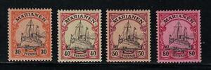 MARIANA ISLANDS SCOTT 22-25 1901 30-80 PFENNIG KAISERS YACHT ISSUES MH OG VF!