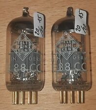 E88CC Telefunken ( CCa / 6922 ) - matched pair - mit <> - NOS (R127)
