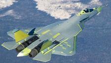 Sukhoi PAK FA T-50 Stealth Multirole Airplane Desktop Wood Model Large