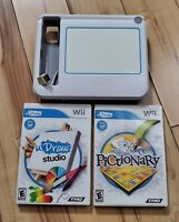 wii u draw drawing board and 2 games u draw Pictionary and studio