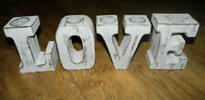 Large Shabby Chic Wooden LOVE Letters Tealight Candle Holders Wedding Home
