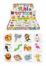 Pack of 12 Assorted Design 4cm Mini Jungle Temporary Tattoos