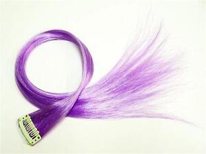 4 x Highlight Strähne Rainbow Clip in Extensions Colour Haarsträhne Lila PC8