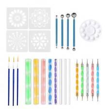 25pcs Dot Art Rock Pen Paint Stencil Mandala Dotting Tools for Rock Painting Kit