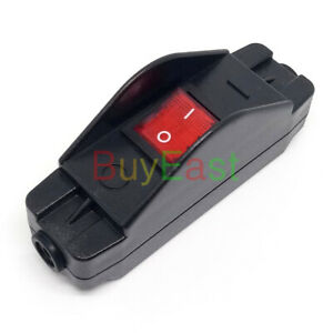 30Amp Heavy Duty Inline Cable Rocker Switch Max AC250V Red Led Indicator
