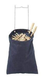 Whitmor Hanging Clothespin Bag Holds 200 Laundry Clothes Pins Indoor / Outdoor