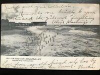 Vintage Postcard>1906>Heavy Surf>Asbury Park>New Jersey