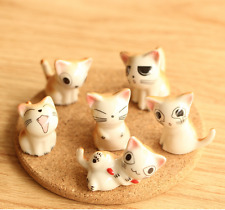 Caetoon cats ceramic pottery statue animal miniature figurine random