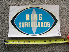 Vintage Bing surfboards Waterslide surfboard decal longboard hermosa RARE LARGE