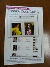 "Tonner Dolls Website & Duels 9"" x 6"" Large Promo Post Card Postcard Ltd Print"