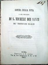 1862 STORIA DI SAN MICHELE DEI SANTI DI VIC IN CATALOGNA SPAGNA ESPANA