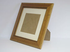 Antique Pine Wooden 10x10 Square Picture Photo Frame Mount 7x7 Standing
