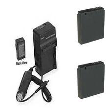 Two Batteries DMW-BCJ13 DMWBCJ13 + Charger for Panasonic DMC-LX5W DMCLX5 DMCLX5K