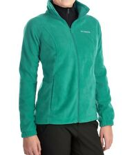 COLUMBIA Benton Springs Full-Zip Fleece Jacket Women M EMERALD NWT~FnF