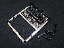 Telecaster Humbucker Bridge - String Thru 6 Scroll Saddle - plating pattern Blac