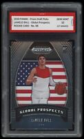 🌟2020 Lamelo Ball NBA Panini Prizm Global Rookie 1st Graded 10 Hornets RC Card