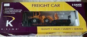 K-Line k511-021 O MILW Flat Car w/ Vehicle NOS NIB