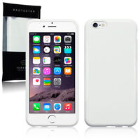 Apple iPhone 6 & 6S Protective Flexible Shock Proof Gel Cover Ultra-Slim White